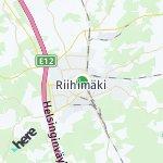 Map for location: Riihimäki, Finland