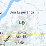Map for location: J. K., Brazil