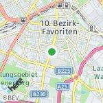 Map for location: 10. Bezirk-Favoriten, Austria