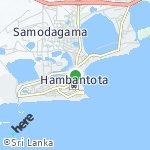 Map for location: Hambanthota Town, Sri Lanka