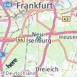 Map for location: Neu-Isenburg, Germany