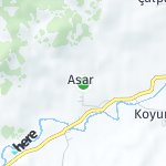 Map for location: Asar, Turkey