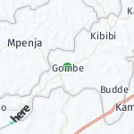 Map for location: Gombe, Uganda