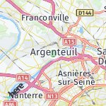 Map for location: Argenteuil, France
