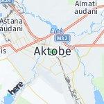 Map for location: Aktobe, Kazakhstan