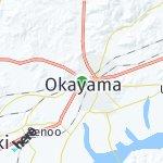Map for location: Okayama, Japan