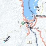 Map for location: Bukavu, Democratic Republic Congo