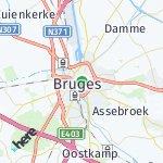 Map for location: Bruges, Belgium