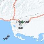 Map for location: Trinidad, Cuba