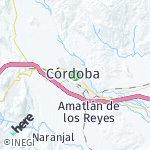 Map for location: Córdoba, Mexico