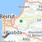 Map for location: Fanar, Lebanon