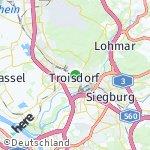 Map for location: Troisdorf, Germany