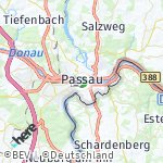 Map for location: Passau, Germany