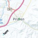 Map for location: Prizren, Kosovo