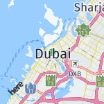 Map for location: Dubai, United Arab Emirates