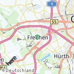 Map for location: Frechen, Germany