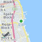 Map for location: Fintas-Block 3, Kuwait