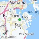 Map for location: Sanad, Bahrain