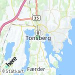 Map for location: Tonsberg, Norway