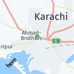 Map for location: Karachi, Pakistan