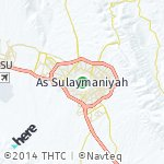 Map for location: As Sulaymaniyah, Iraq