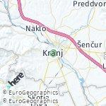 Map for location: Kranj, Slovenia