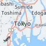 Map for location: Tokyo, Japan