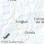 Map for location: Trinidad, Honduras