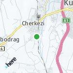 Map for location: Cherkezi, North Macedonia