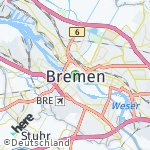 Map for location: Bremen, Germany