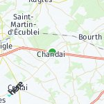 Map for location: Chandai, France