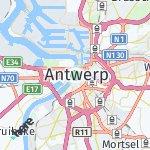 Map for location: Antwerp, Belgium