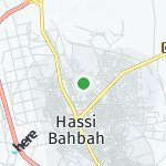 Map for location: Hassi Bahbah, Algeria