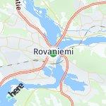 Map for location: Rovaniemi, Finland