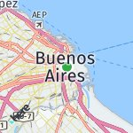 Map for location: Buenos Aires City, Argentina