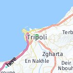 Map for location: Tripoli, Lebanon