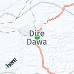 Map for location: Dire Dawa, Ethiopia