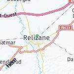 Map for location: Relizane, Algeria