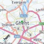 Map for location: Ghent, Belgium