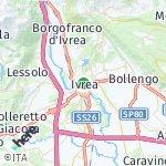 Map for location: Ivrea, Italy