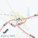 Map for location: Mary, Turkmenistan
