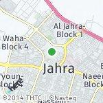 Map for location: Al Jahra-Block 4, Kuwait