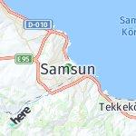Map for location: Samsun, Turkey
