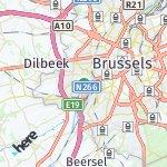 Map for location: Anderlecht, Belgium