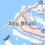 Map for location: Abu Dhabi, United Arab Emirates