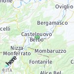 Map for location: Castelnuovo Belbo, Italy