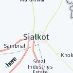 Map for location: Sialkot, Pakistan