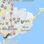 Map for location: Al Fateh, Bahrain