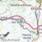 Map for location: Mondorf-les-Bains, Luxembourg
