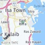 Map for location: East Riffa, Bahrain